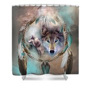 Wolf - Dreams Of Peace Shower Curtain