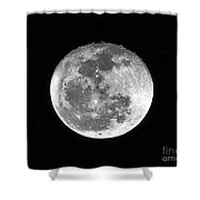Wolf Moon Waning Shower Curtain by Al Powell Photography USA