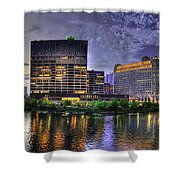 Wolf Point Panorama Shower Curtain