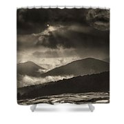 Wolf Rock At Stone Mountain State Park  Shower Curtain
