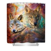 Wolf - Spirit Of The Universe Shower Curtain