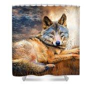 Wolf - Spirit Of Truth Shower Curtain