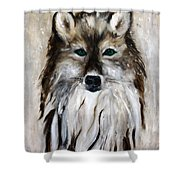 Wolf - Star Trakr Shower Curtain