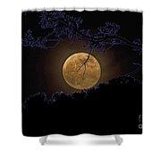 Wolfbane Moon Shower Curtain