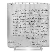 Wolfe Letter, 1759 Shower Curtain