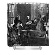 Wolfgang Amadeus Mozart (1756-1791) Shower Curtain