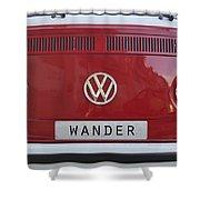 Wolkswagen Combi Red Shower Curtain