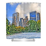 Wollman Rink In Central Park Shower Curtain