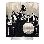 Wolverines B And W Shower Curtain