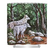 Wolves In South Dakota Shower Curtain