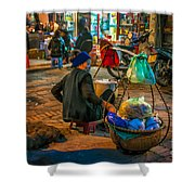 Woman At Rest Shower Curtain
