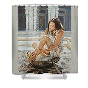 Woman Bathing 2013 Shower Curtain