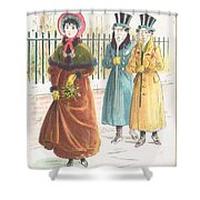 Woman Carrying Bunch Of Mistletoe Shower Curtain