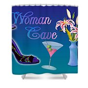 Woman Cave With Stargazers Shower Curtain