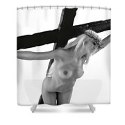 Woman Crucified Shower Curtain