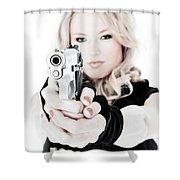 Woman Defense Shower Curtain