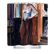 Woman Dressed Shower Curtain