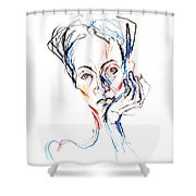 Woman Expression Shower Curtain