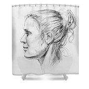 Woman Head Study Shower Curtain