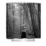 Woman In A Forrest Shower Curtain