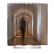 Woman In A Tunnel Shower Curtain