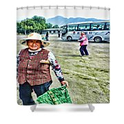 Woman In China Shower Curtain