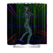 Woman In Cyber Passage Shower Curtain
