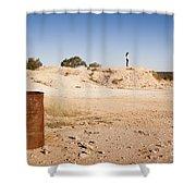 Woman In Landscape Shower Curtain