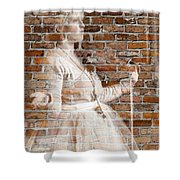 Woman In The Bricks Shower Curtain