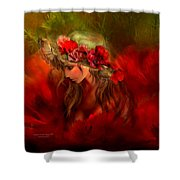 Woman In The Poppy Hat Shower Curtain