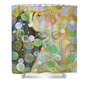 Woman In Worship Shower Curtain