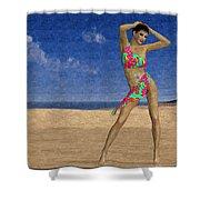 Woman On The Beach... Shower Curtain