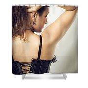 Woman Portrait Shower Curtain