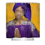 Woman Praying Shower Curtain
