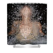 Woman Splashing Water Shower Curtain