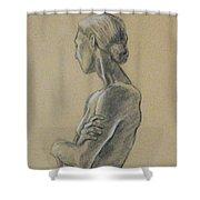 Woman Standing Shower Curtain