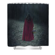 Woman With Basket Shower Curtain