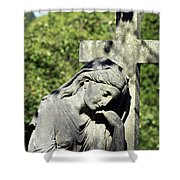 Woman With Cross Cave Hill Cemetery Louisville Kentucky Usa Shower Curtain