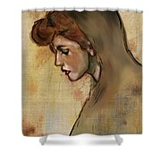 Woman With Hood Shower Curtain