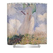 Woman With Parasol Turned To The Left Shower Curtain