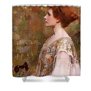 Woman With Red Hair Shower Curtain