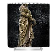 Woman With Wreath Shower Curtain