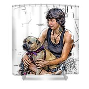 Womans Best Friend Shower Curtain by John Haldane