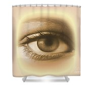 Womans Eye Shower Curtain