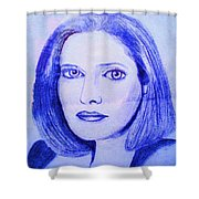 Womans Portrait  Shower Curtain