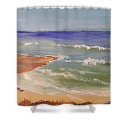 Wombarra Beach Shower Curtain
