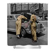 Women Auto Mechanics Shower Curtain