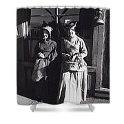 Women  Extras In Old West Costumes Dirty Dingus Magee Set Mescal Arizona 1970 Shower Curtain