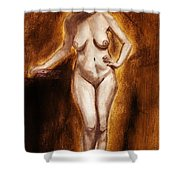 Women With Curves Are Beautiful 2 Shower Curtain