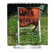 Women Working Shower Curtain